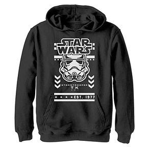 Boys 8-20 Star Wars Stormtrooper Urban Streetwear Moto Graphic Hoodie