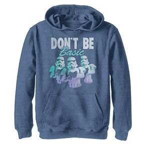 Boys 8-20 Star Wars Stormtroopers Don't Be Basic Funny Graphic Hoodie
