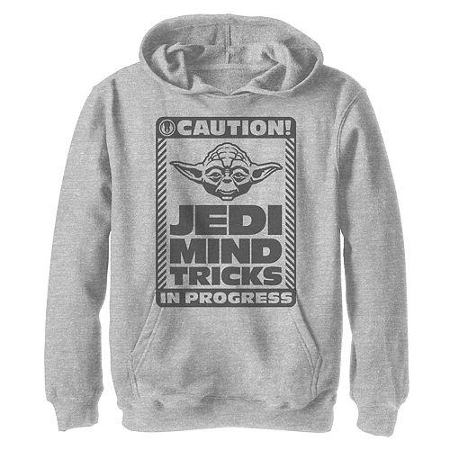 Boys 8-20 Star Wars Jedi Mind Tricks Caution Sign Graphic Hoodie