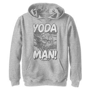 Boys 8-20 Star Wars Yoda Man Classic Retro Comic Strip Graphic Hoodie