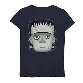 Girls 7-16 Universal Monsters Frankenstein Mask Graphic Tee