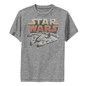 Boys 8-20 Star Wars Lone Falcon Logo Graphic Performance Tee