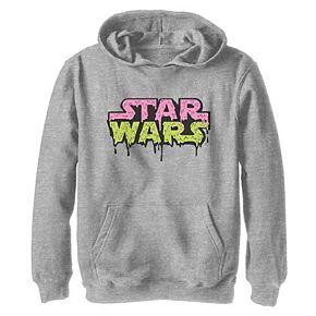Boys 8-20 Star Wars Dripping Retro Logo Graphic Hoodie