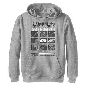 Boys 8-20 Star Wars Reasons Why A Jedi Is Awesome Graphic Hoodie