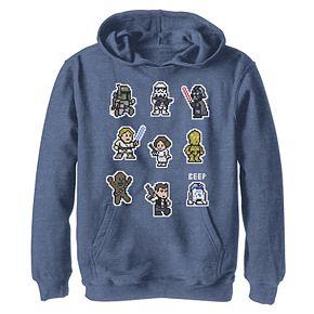 Boys 8-20 Star Wars Heroes 8-Bit Character Family Graphic Hoodie