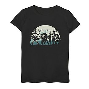 Girls 7-16 Marvel Avengers Night Portrait Graphic Tee