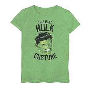 """Girls 7-16 Marvel Avengers """"Hulk Costume"""" Graphic Tee"""