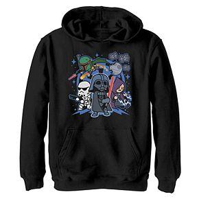 Boys 8-20 Star Wars Vader Kawaii Chibi Team Empire Graphic Hoodie