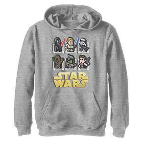 Boys 8-20 Star Wars Pixel Group Shot Graphic Hoodie