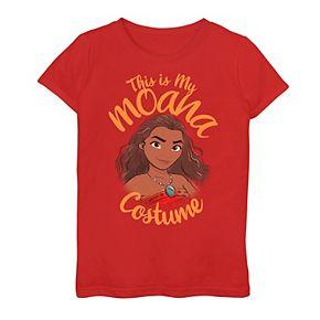 """Girls 7-16 Disney / Pixar Girls """"This Is My Moana Costume"""" Graphic Tee"""