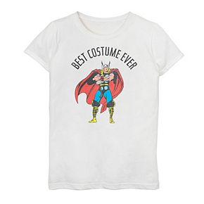 "Girls 7-16 Marvel Thor ""Best Costume Ever"" Graphic Tee"