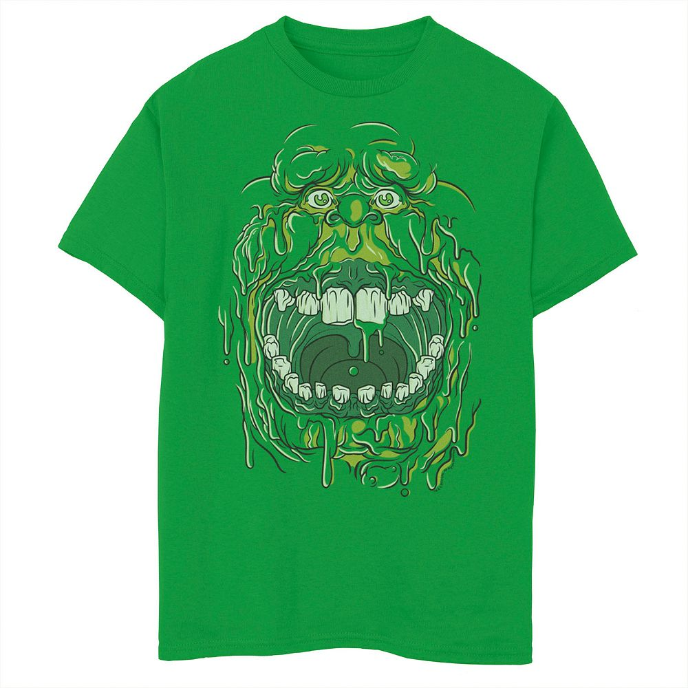 Boys 8-20 Ghostbusters Slimer Face Halloween Costume Graphic Tee