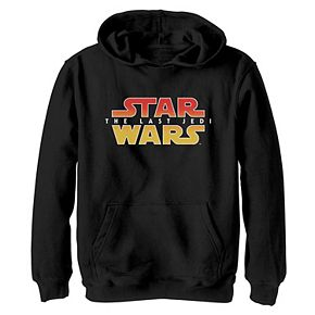 Boys 8-20 Star Wars Last Jedi Texture Gradient Logo Graphic Hoodie