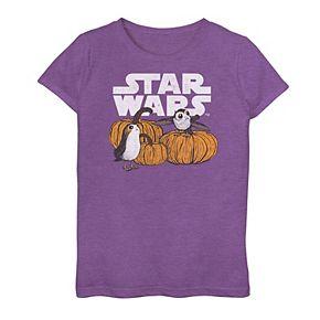 Girls 7-16 Star Wars Porg Pumpkins Graphic Tee