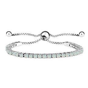 Sterling Silver Gemstone Bolo Adjustable Bracelet