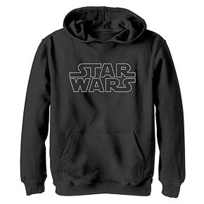 Boys 8-20 Star Wars Simple Logo Outline Graphic Hoodie