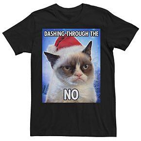 Men's Grumpy Cat Dashing Through The No Holiday Tee