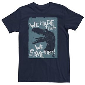 Men's Jurassic World Two We Made Them We Save Them Tee