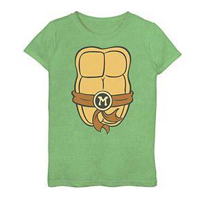 Girls 7-16 Teenage Mutant Ninja Turtles Mikey Shell Graphic Tee
