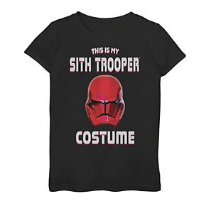 """Girls 7-16 Star Wars """"This Is My Sith Trooper Costume"""" Graphic Tee"""