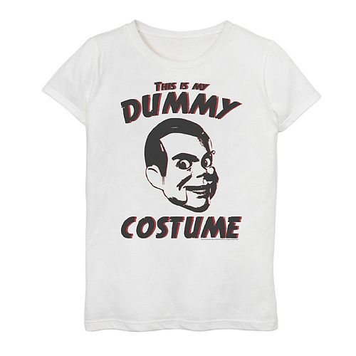 """Girls 7-16 Goosebumps """"This Is My Dummy Costume"""" Graphic Tee"""