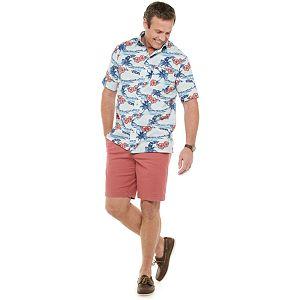 Big & Tall Croft & Barrow® Crosshatch Woven Button-Down Shirt