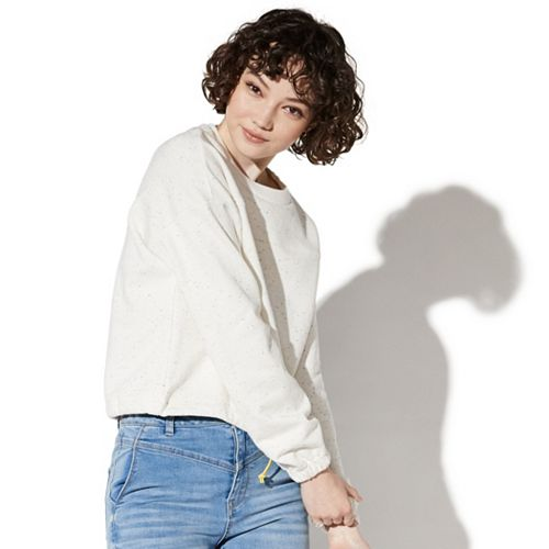 Juniors' Vylette™ Tie-Dye Crop Sweatshirt