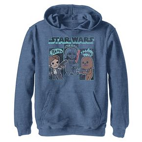 Boys 8-20 Star Wars Simple Boba Outline Graphic Hoodie