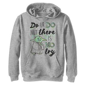 Boys 8-20 Star Wars Yoda Quote Drawing Graphic Hoodie