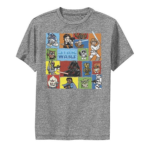 Boys 8-20 Star Wars Cartoon Colorful Group Collage Graphic Performance Tee
