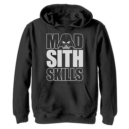 Boys 8-20 Star Wars Vader Mad Sith Skills Graphic Hoodie