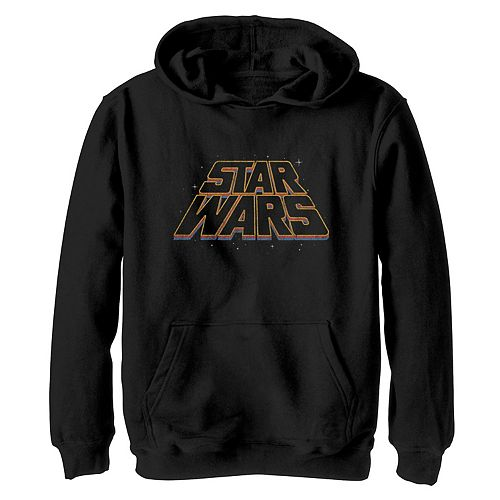 Boys 8-20 Star Wars Layered Slanted Logo Vintage Style Graphic Hoodie