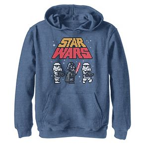 Boys 8-20 Star Wars Vader Troopers Logo 8-Bit Pixels Graphic Tee