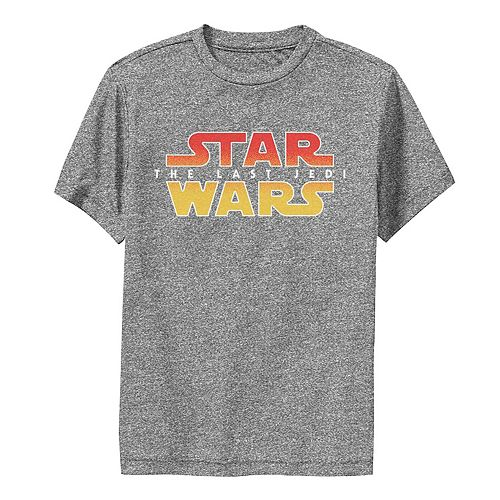 Boys 8-20 Star Wars Last Jedi Texture Gradient Logo Graphic Performance Tee