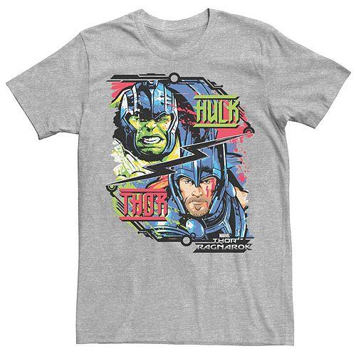 Men's Marvel Thor Ragnarok Hulk Champ vs God of Thunder Tee