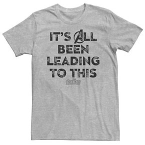 Men's Marvel Infinity War Lead To This Letter Tone Tee