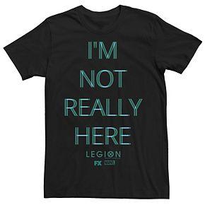 Men's Marvel Legion I'm Not Really Here Distorted Tee