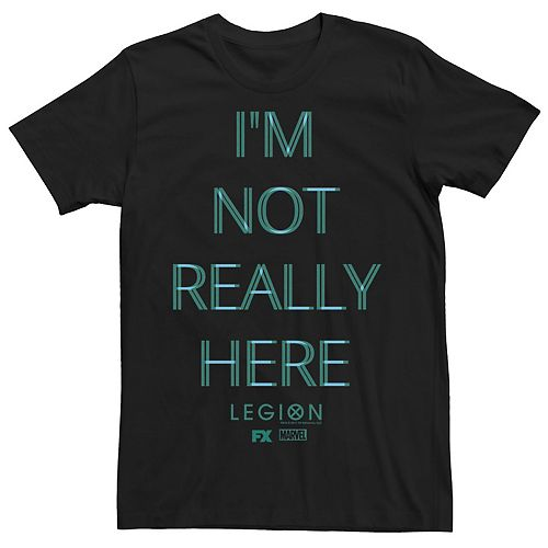 Men's Marvel Legion I'm Not Really Here Distorted Tee