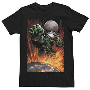 Men's Marvel Hulk Planet Smash Space Tee