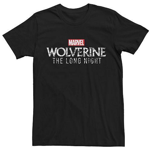 Men's Marvel Wolverine The Long Night Simple Logo Tee