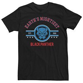 Men's Marvel Black Panther Earth's Mightiest Retro Logo Tee