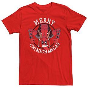Men's Marvel Deadpool Merry Chimichangas Holiday Tee