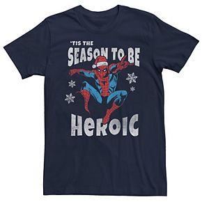 Men's Marvel Spider-Man Season To Be Heroic Holiday Tee