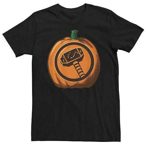 Men's Marvel Thor Hammer Halloween Pumpkin Tee