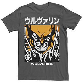 Men's Marvel X-Men Wolverine Kanji Blades Pose Tee