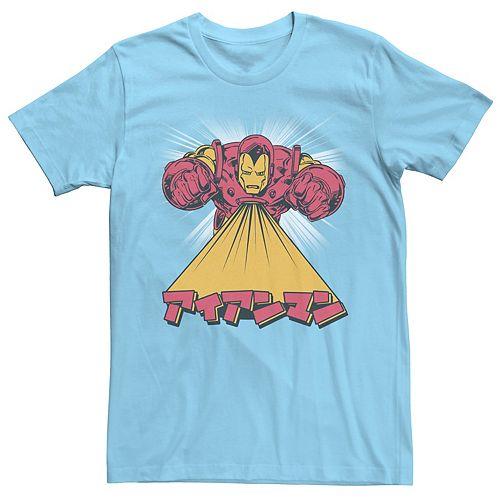 Men's Marvel Avengers Iron Man Kanji Fly Tee