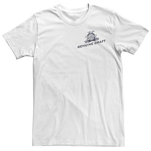 Men's Miller Genuine Draft Left Chest Logo Tee