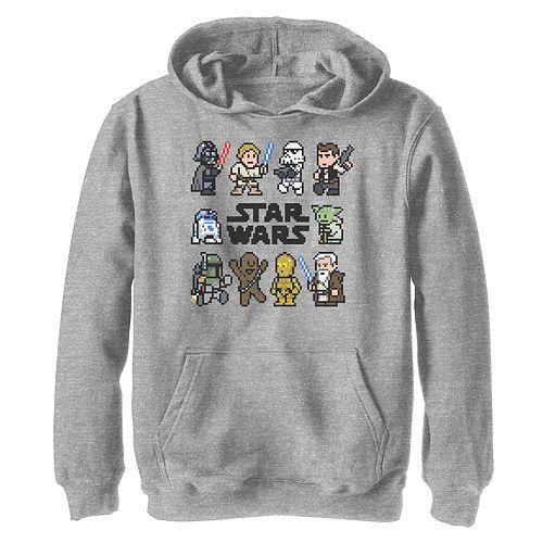 Boys 8-20 Star Wars Pixelated Wars Logo Graphic Hoodie