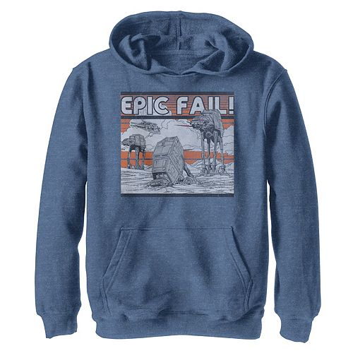 Boys 8-20 Star Wars AT-AT Walker Epic Fail Meme Graphic Hoodie