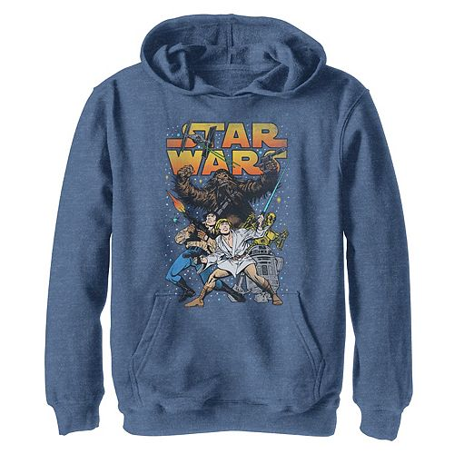 Boys 8-20 Star Wars Classic Vintage Comic Book Heroes Graphic Hoodie